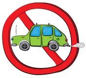Samochodowy jeżdżenie pozwolić znak Obrazy Stock