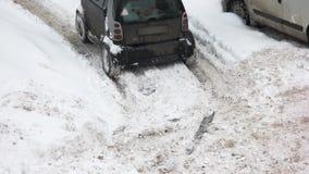 Samochodowy jeżdżenie w niekorzystnych warunek pogodowy zbiory