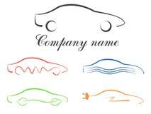 Samochodowy kaligraficzny loga set Ilustracji