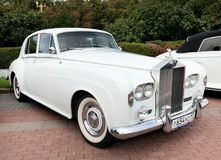 samochodowy klasyczny stary biel Obrazy Stock