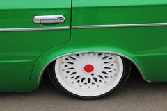 Samochodowy koło, pojazd - retro Obrazy Royalty Free