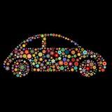 Samochodowy kształt Fotografia Royalty Free