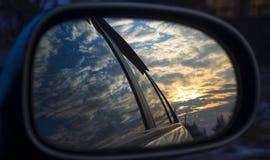 Samochodowy lustro Fotografia Royalty Free