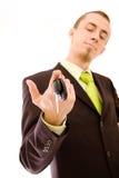 samochodowy mienia kluczy mężczyzna Fotografia Royalty Free