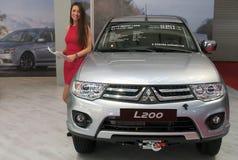 Samochodowy Mitsubishi L200 Zdjęcia Stock