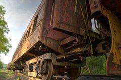 samochodowy ośniedziały pociąg Obraz Royalty Free