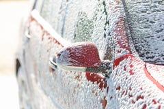 Samochodowy obmycie z mydłem zdjęcie stock