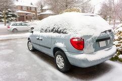 Samochodowy obramowany w lodzie Obrazy Royalty Free