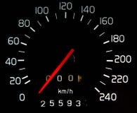 Samochodowy odległość w milach Zdjęcie Stock