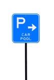samochodowy odosobniony parking basenu znak Fotografia Royalty Free