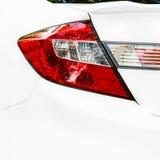 Samochodowy ogonu światło na sedanie Zdjęcie Stock