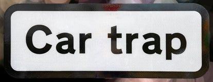 Samochodowy oklepa znak zdjęcia stock