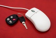 samochodowy online zakupy Fotografia Stock