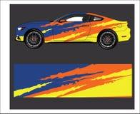 Samochodowy opakunek Abstrakcjonistyczny pasek dla opakunku, majcheru i decal bieżnego samochodu, ilustracja wektor