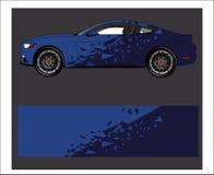 Samochodowy opakunku decal Abstrakcjonistyczny pasek dla opakunku, majcheru i decal bieżnego samochodu, ilustracji