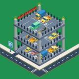 Samochodowy parking pojęcie ilustracja wektor
