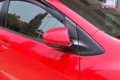 Samochodowy parking z bocznym widoku lustrem zamykał dla bezpieczeństwa Obrazy Royalty Free