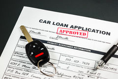 Samochodowy Pożyczkowy zastosowanie Zatwierdzał 003 Fotografia Stock
