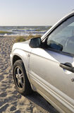 samochodowy pobliski morze zdjęcie royalty free