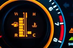 Samochodowy prędkości metru zbliżenie Zdjęcie Royalty Free