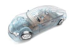 Samochodowy projekt, drutu model Zdjęcia Royalty Free