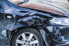 Samochodowy przyduszenie wypadek Obraz Royalty Free