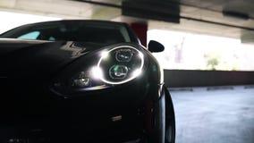 Samochodowy reflektoru zakończenie up zbiory wideo