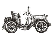 Samochodowy retro wektorowy loga projekta szablon Transport ilustracja wektor