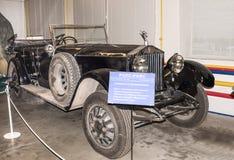 Samochodowy Rolls Royce wewnątrz (1913) Obraz Stock