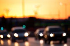Samochodowy ruch drogowy obraz royalty free