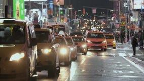 Samochodowy ruch drogowy taxi nowy Jork Zako?czenie zbiory