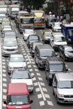 Samochodowy ruch drogowy w cetner Tokio, Japonia Obraz Stock