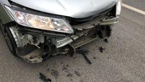 samochodowy samochodów karambolu trzask wielki autostrada zamrażającą prędkość zdjęcia royalty free
