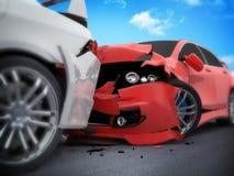 samochodowy samochodów karambolu trzask wielki autostrada zamrażającą prędkość ilustracji