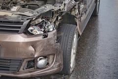 samochodowy samochodów karambolu trzask wielki autostrada zamrażającą prędkość zdjęcie royalty free