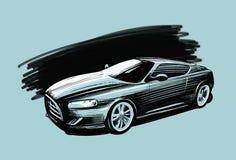 samochodowy siatki sportów wektor Pojazdu nakreślenia wektoru ilustracja Zdjęcia Royalty Free