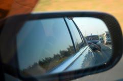 Samochodowy sidemirror roadtrip fotografia royalty free