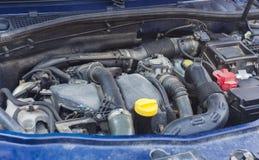 Samochodowy silnik z pyłem obrazy stock