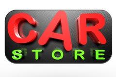 Samochodowy sklep 3d royalty ilustracja