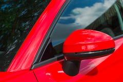 Samochodowy Skrzydłowy lustro Zdjęcia Royalty Free