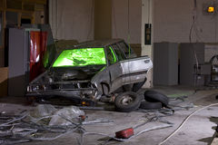 samochodowy stary ośniedziały Zdjęcia Royalty Free