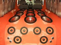 samochodowy system audio Zdjęcia Royalty Free
