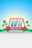 Samochodowy Szczęśliwy 2017_JAK-1 obraz royalty free
