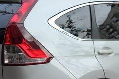 Samochodowy szczegół z czerwonymi taillights fotografia royalty free