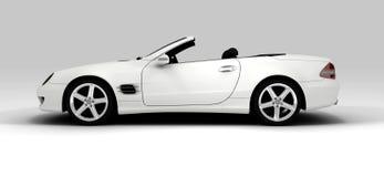 samochodowy szybki biel Zdjęcia Royalty Free