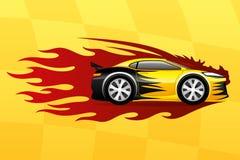 samochodowy szybki kolor żółty ilustracji