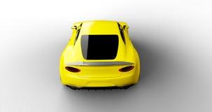 samochodowy tło projekt odizolowywał mój swój sportów biel kolor żółty Obrazy Royalty Free