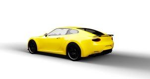 samochodowy tło projekt odizolowywał mój swój sportów biel kolor żółty Zdjęcia Royalty Free