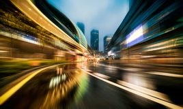 Samochodowy tło miasto nocy scena Obraz Stock