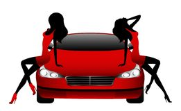 samochodowy target2106_1_ dziewczyn Obraz Royalty Free